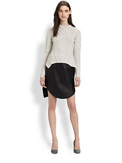 Carven - Twisted Long-Sleeve Sweater