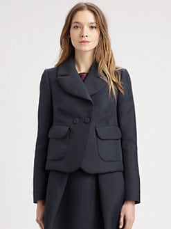 Carven - Gazar Stretch-Wool Blazer