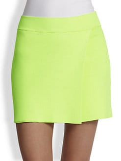 A.L.C. - Pike Wrap-Effect Stretch Jersey Mini Skirt