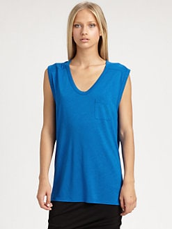 T by Alexander Wang - Slub Muscle Tee