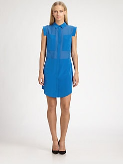 T by Alexander Wang - Silk Chiffon Shirtdress