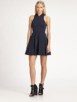 T by Alexander Wang - Pleated Neoprene Dress