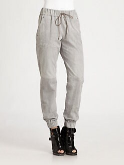 T by Alexander Wang - Suede Track Pants