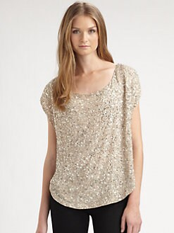 Haute Hippie - Sequin Cowlneck Top