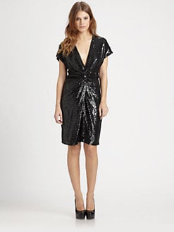 Haute Hippie - Draped Sequin Dress