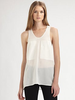 T by Alexander Wang - Silk Chiffon Tank
