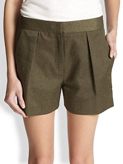 Alexander Wang - Distressed Patterned Twill Shorts