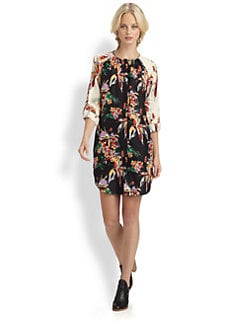 10 Crosby Derek Lam - Printed Silk Shirtdress