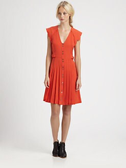 10 Crosby Derek Lam - Pleated Silk Dress