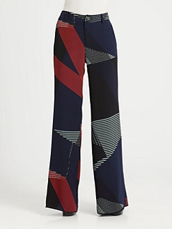 10 Crosby Derek Lam - Printed Wide-Leg Pants