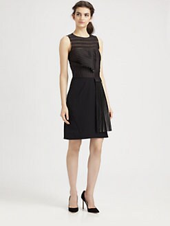 10 Crosby Derek Lam - Leather-Pleat Dress