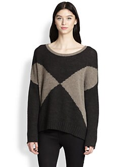 360 Sweater - Dolman-Sleeved Colorblock Sweater