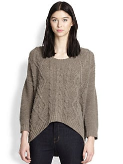 360 Sweater - Tao Cable-Knit Dolman-Sleeved Hi-Lo Sweater