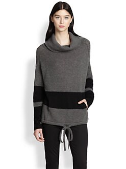 360 Sweater - Cashmere Striped Cowlneck Stripes