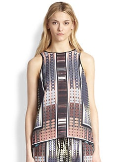 Clover Canyon - Donegal Printed Crossover-Back Top
