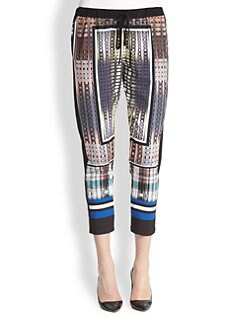 Clover Canyon - Donegal Cropped Printed Track Pants