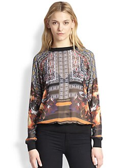Clover Canyon - Irish Box Sheer Printed Sweatshirt