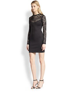 Clover Canyon - Laser-Cut Neoprene Body-Con Dress
