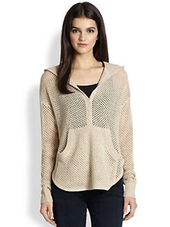 INHABIT - Fishnet Hoodie Top