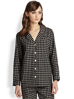 Steven Alan - Checked Cotton Pajama Shirt