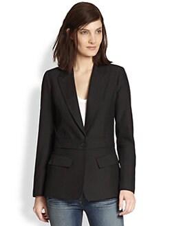 Smythe - Two-for-One Wool Detachable-Bottom Blazer