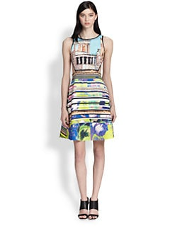 Clover Canyon - Acropolis Printed Cutout Dress