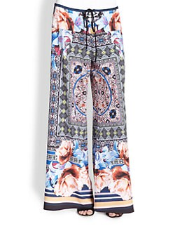 Clover Canyon - Byzantine Printed Wide-Leg Pants