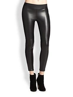 Bailey 44 - Brisk Walking Faux Leather-Front Jersey Leggings