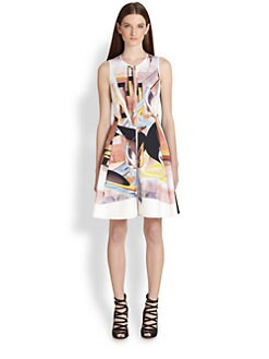Clover Canyon - Painted Metal Printed Zip-Front Dress