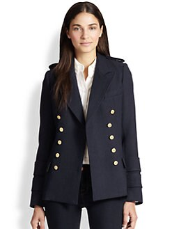 Smythe - Double-Breasted Wool Military Coat