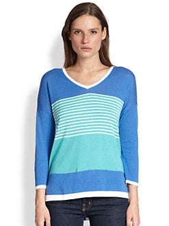 Design History - Zip-Back Colorblock Sweater