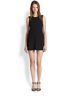 Twenty Tees - Sheer Mesh-Paneled Stretch Jersey Dress