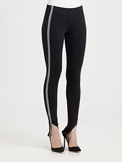 David Lerner - Tuxedo-Stripe Leggings