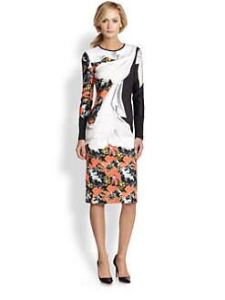Clover Canyon - Lady Wilde Printed Neoprene Dress
