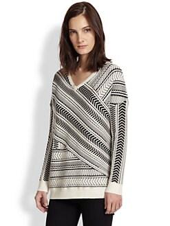 Generation Love - Jemma Asymmetrical Textured-Stripe Sweater