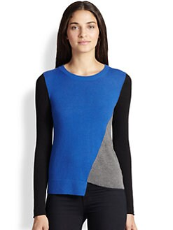 Bailey 44 - Psychosis Asymmetrical Colorblock Sweater