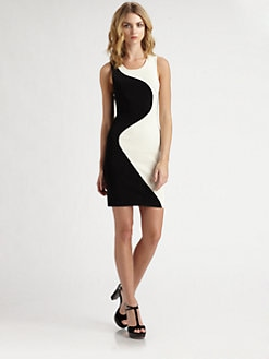 Parker - Ying Yang Colorblock Dress