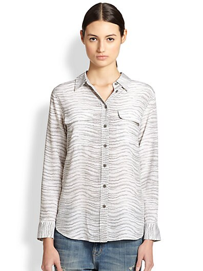 Slim Signature Bengal Print Shirt