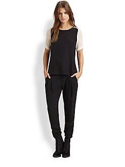 Parker - Contrast Silk Top