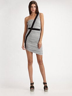 Factory by Erik Hart - One-Shoulder Gathered Mini Dress