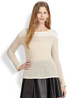 Ella Moss - Spruce Open-Knit Sweater