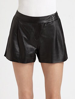 Boundary & Co. - Beri Leather-Panel Shorts