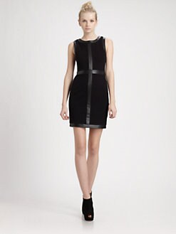 Bailey 44 - Leather-Trim Sheath Dress