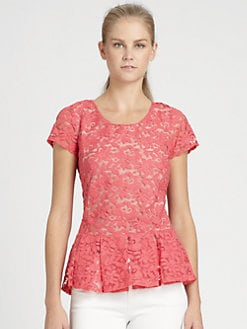 Madison Marcus - Lace Peplum Top