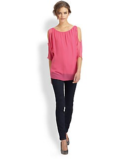 Bailey 44 - Trampoline Silk-Rich Blouse