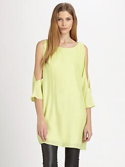 ADDISON - Nova Silk Cutout Tunic