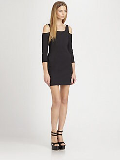 ADDISON - Bedford Fitted Cutout Dress
