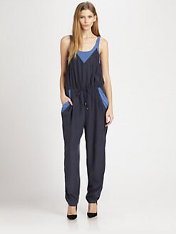 ADDISON - Ryder Long Colorblock Jumpsuit