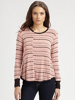 Wilt - Broken Stripe Shirttail Sweater