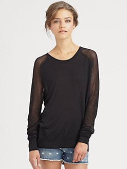 Equipment - Ashton Semi-Sheer Cashmere Sweater